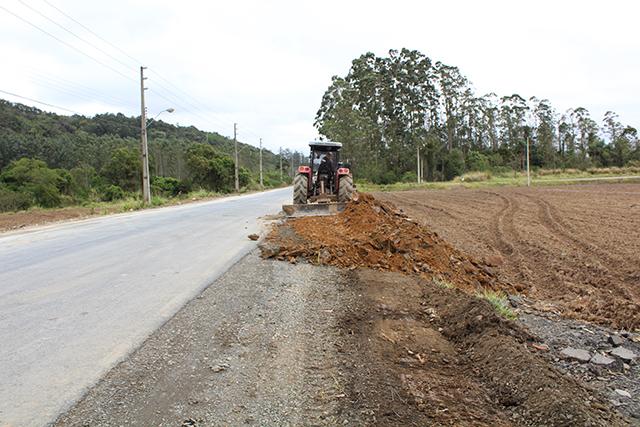 Acesso Norte de Maracajá tem acostamento ampliado
