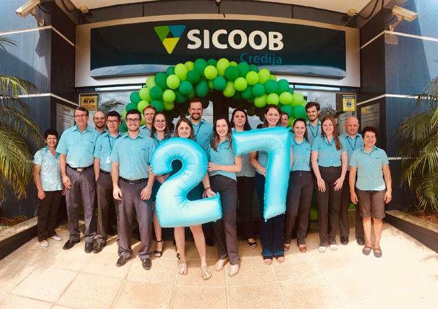 Sicoob Credija completa 27 anos e segue expandindo