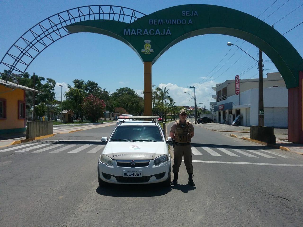 Polícia Militar sempre presente nas ruas de Maracajá