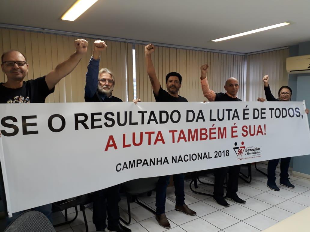 Aberta Campanha Nacional Unificada dos bancários em Criciúma