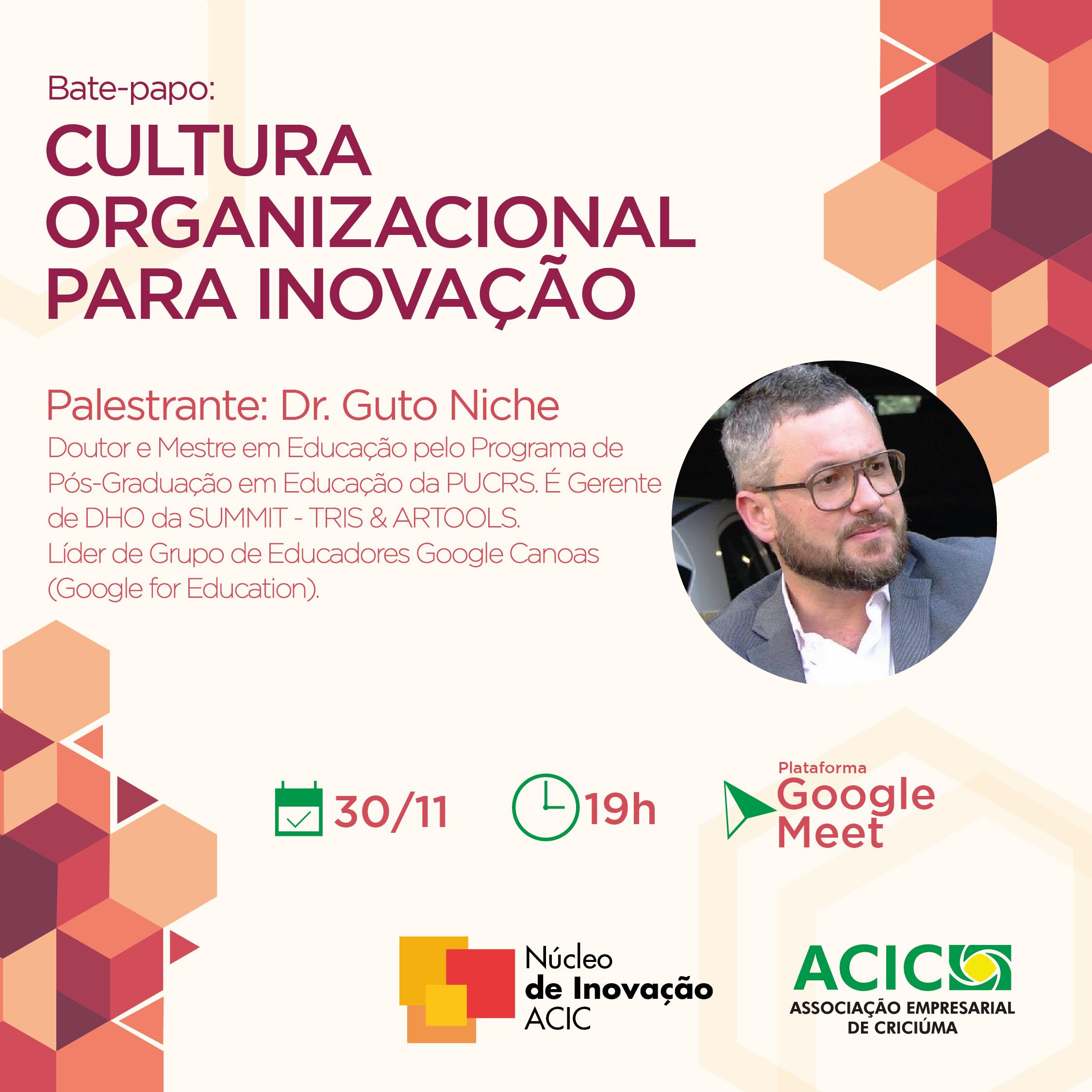 Mestre em Educação Augusto Niche lança na Acic o Núcleo de Inovação