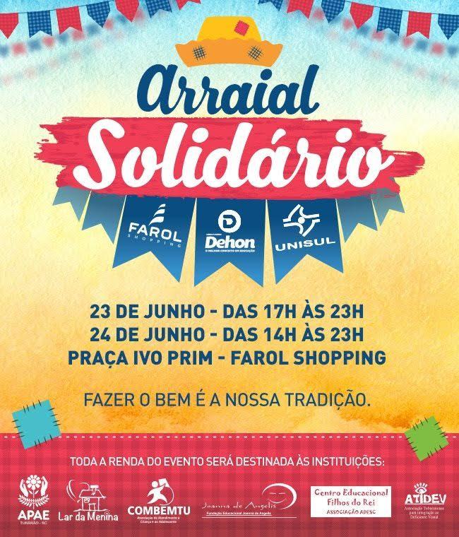 Farol Shopping e Unisul realizam Arraial Solidário