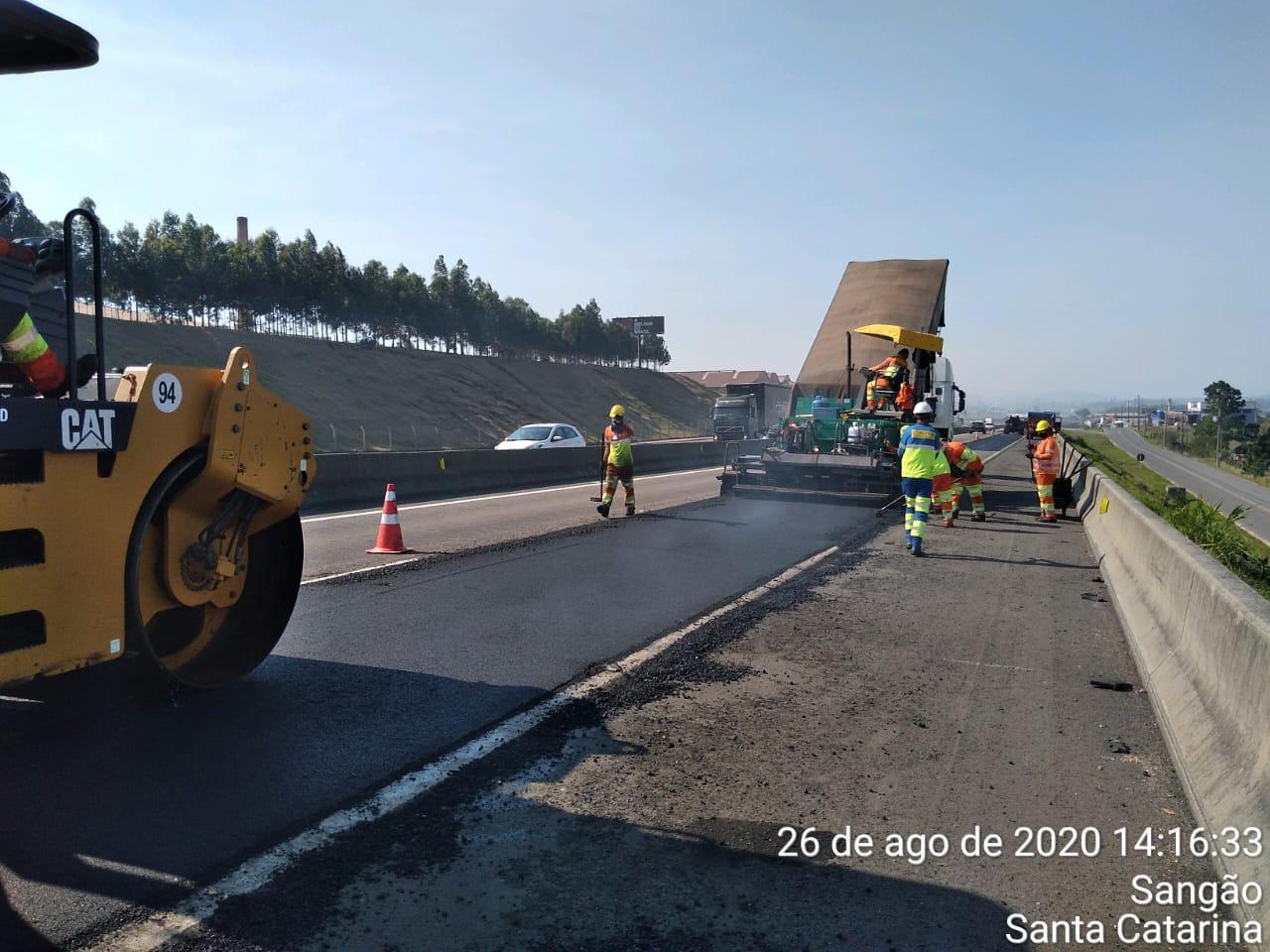 CCR ViaCosteira inicia trabalhos de restauração de pavimento na BR 101