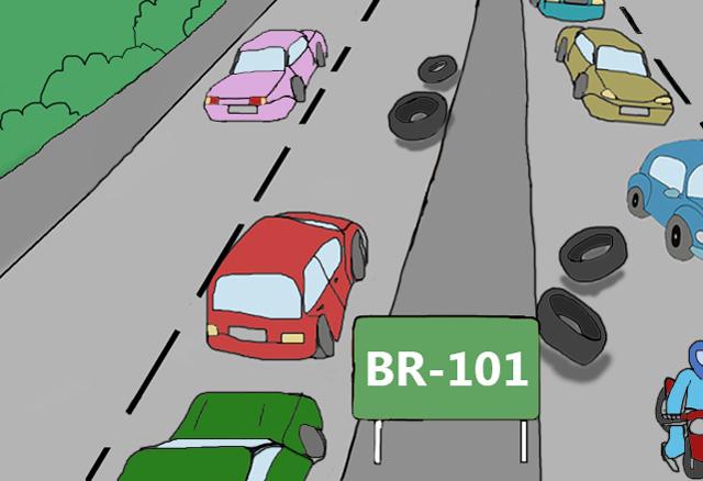 Cuidado com os pneus soltos