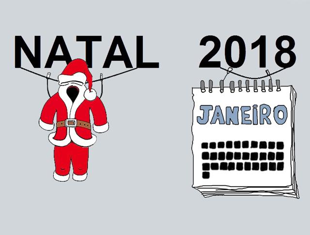 Depois do Natal vem o ano novo