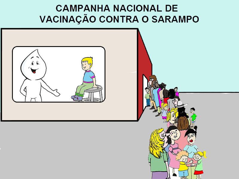 Vacinação contra o sarampo no país