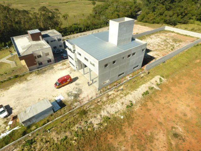 Construção da nova sede da Corpo de Bombeiros de Içara está na sexta etapa