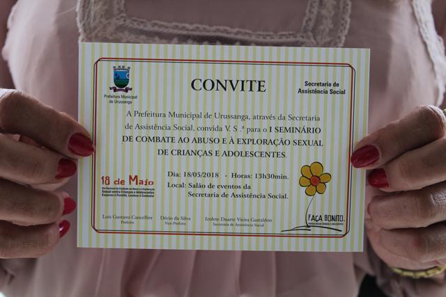 Urussanga promove Seminário de Combate ao Abuso Sexual de Crianças e Adolescentes