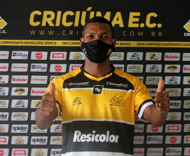 Atacante Jean Dias é o mais novo reforço do Criciúma Esporte Clube