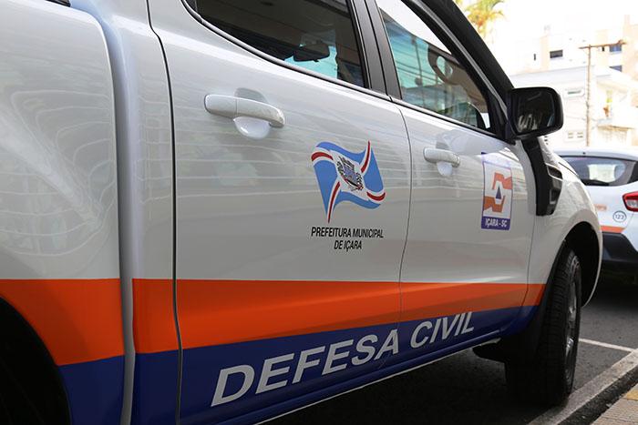 Içara: Defesa Civil recebe novo veículo para atender ocorrências
