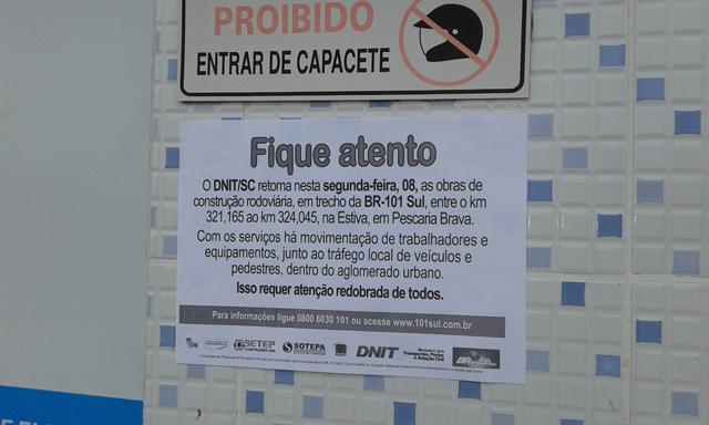 Comunidade recebe informações sobre retomada de obras na BR-101/SC