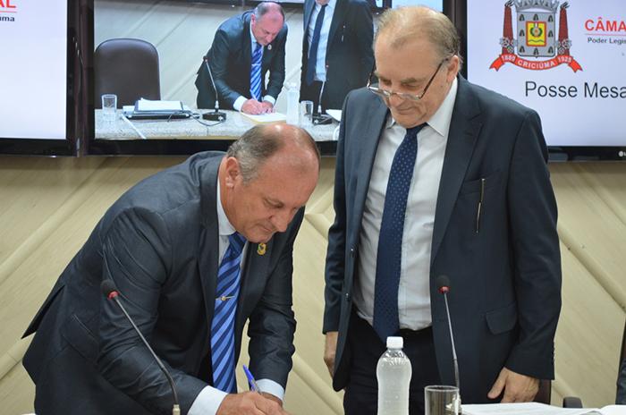 Vereador Miri Dagostim assume a presidência do Legislativo
