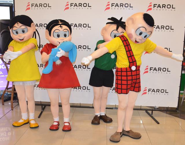 Turma da Mônica faz a alegria da criançada no Farol Shopping