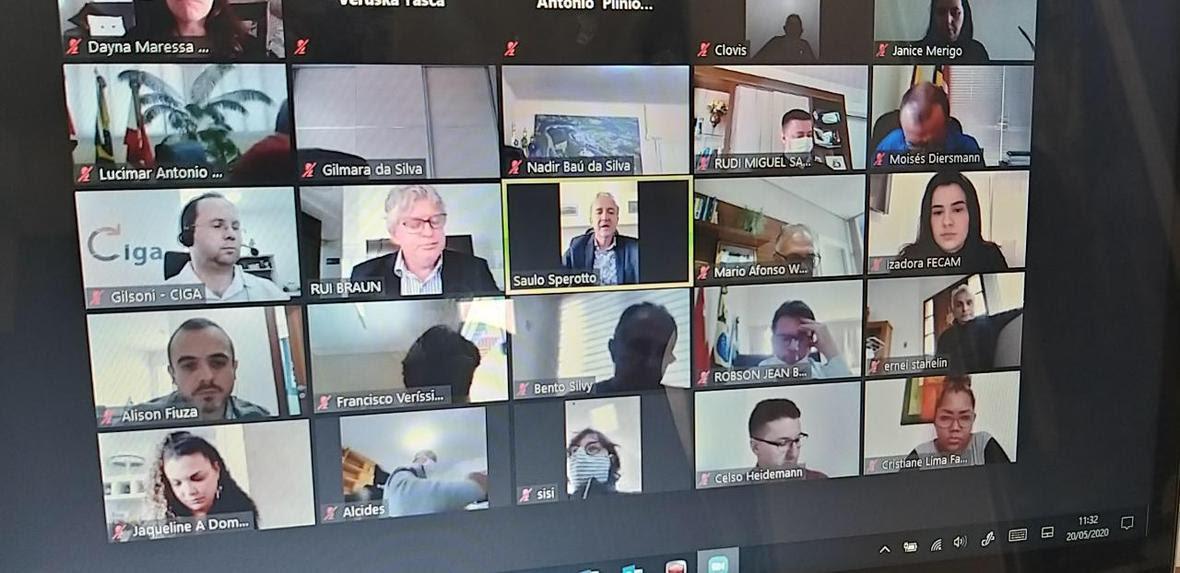 Assembleia virtual de prefeitos reforça regionalização no combate ao covid-19