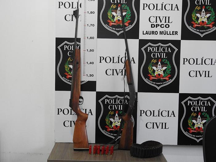 Polícia Civil de Lauro Müller apreende arma e munições