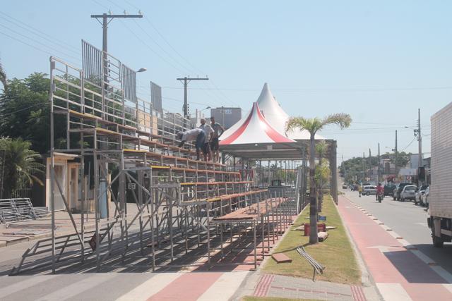 Balneário Rincão pronto para a folia de Carnaval