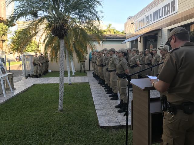 PM de Araranguá realiza solenidade em homenagem a Tiradentes