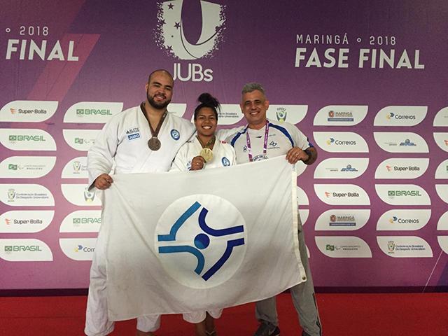 Judocas da Unisul conquistam ouro e bronze já nas primeiras disputas do JUBs