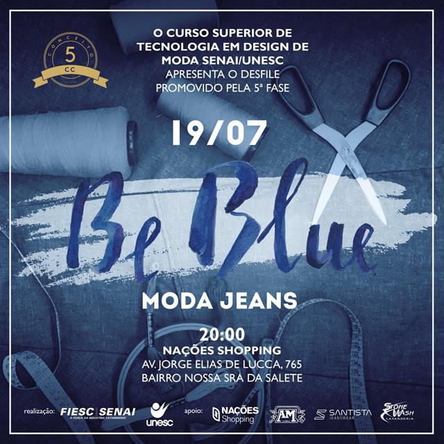 Looks em jeanswear serão apresentados por acadêmicos de moda