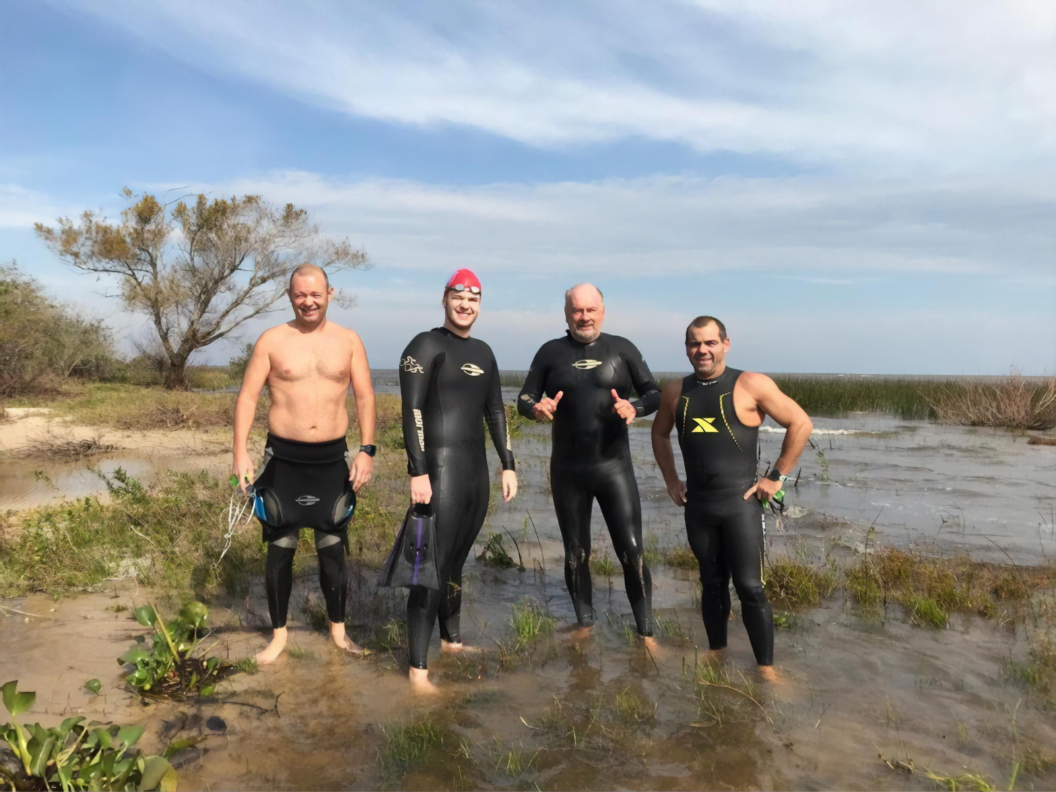 Projeto Nadando Pelos Cartões Postais tem desafio de 11 Km no Foz do Rio Palmares