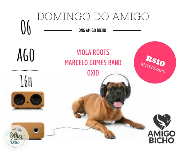 Domingo do Amigo beneficente no Colher de Chá