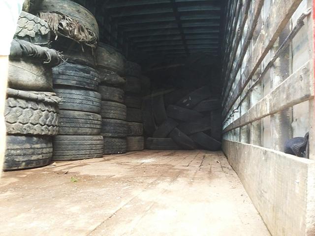 Ação da Secretaria de Saúde de Jacinto Machado recolhe 800 pneus velhos