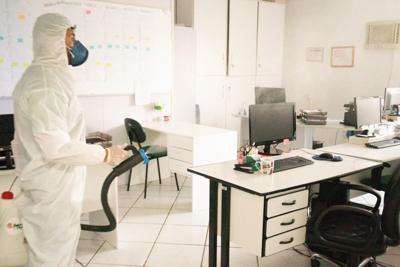 Secretarias de Saúde e Assistência Social recebem sanitização em Içara