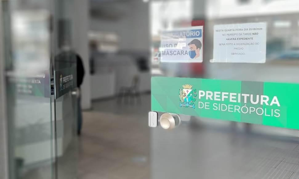 Paço Municipal de Siderópolis será fechado na tarde de quarta para sanitização