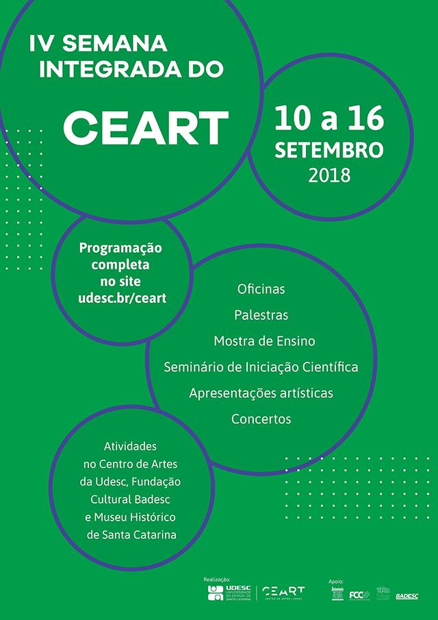 Semana Integrada da Udesc Ceart ocorre em Florianópolis de 10 a 16 de setembro