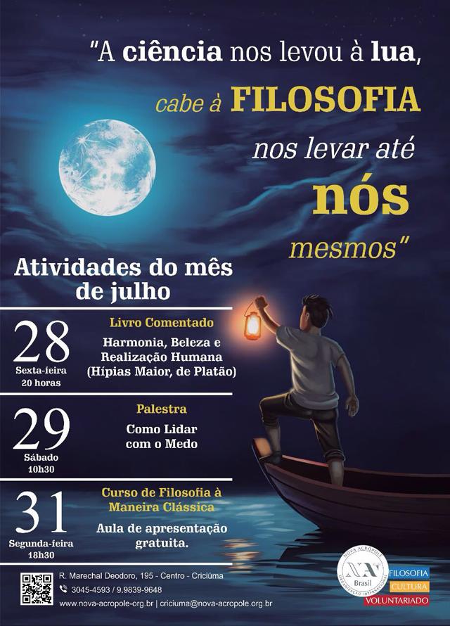 Organização Nova Acrópole de Criciúma realiza eventos culturais