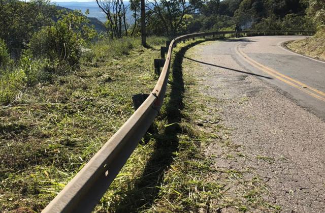 Governo do Estado faz manutenção na Serra do Rio do Rastro
