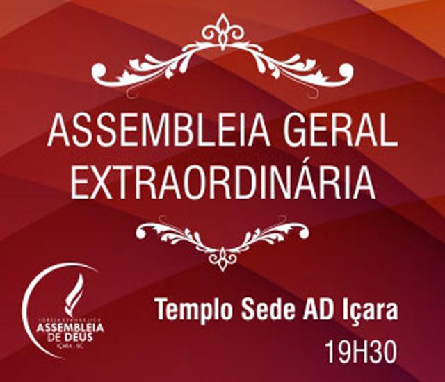 Presidente AD Içara convoca Assembleia Geral Extraordinária