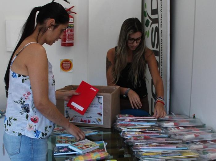 Kits já começam a ser montados para a Campanha de Material Escolar de Siderópolis