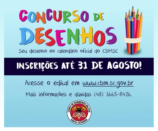 Concurso de Desenhos do CBMSC segue com inscrições abertas
