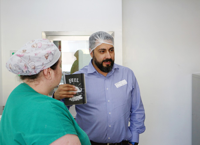 Equipe do HSJosé recebe visita de Engenheiro Científico