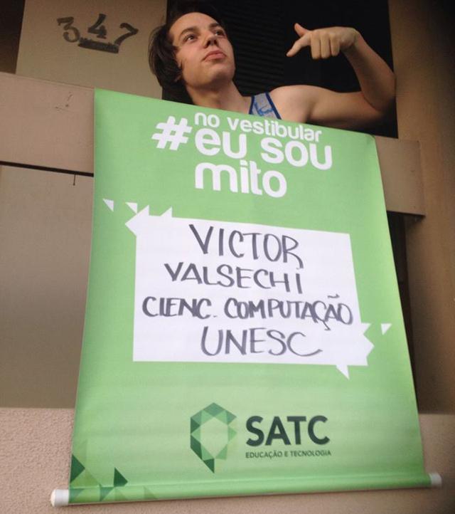 Victor Valsechi passou no vestibular de Ciências da Computação