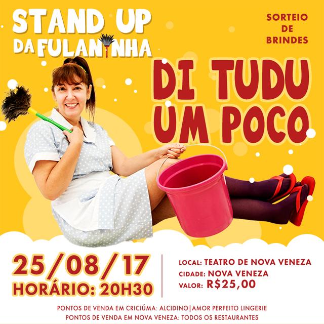 """Stand up Fulaninha """"Di Tudu Um Poco"""" estreia em Nova Veneza"""