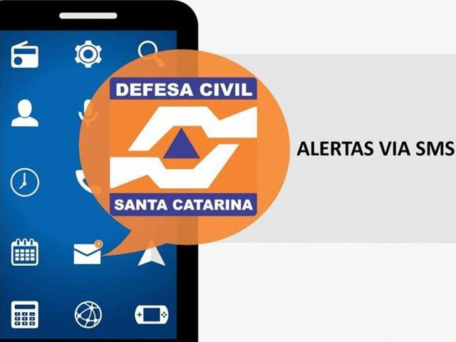Serviço de alerta da Defesa Civil via SMS em todos os municípios de SC