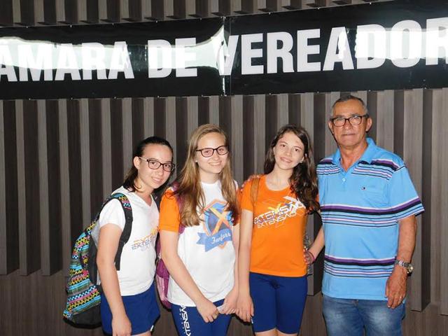 Estudantes visitam gabinete do vereador João Abílio Pereira