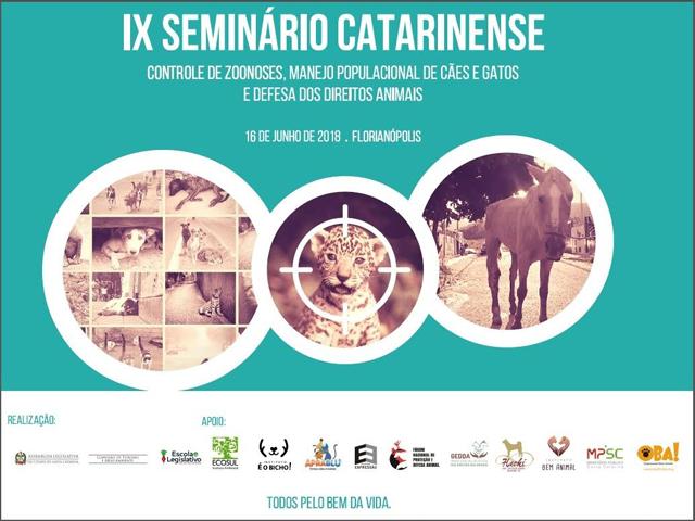 Alesc e ONGs realizam IX Seminário de Controle de Zoonozes