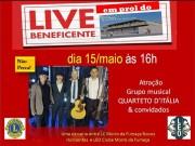 Live com o Quarteto D'Itália em prol da construção do Centro do Idoso em MF