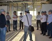 Dirigentes da Aurora e da Cooperalfa conhecem obra do novo Hospital Unimed