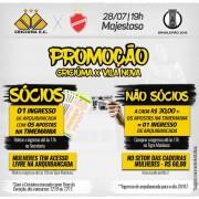 Promoção para o jogo do Criciúma-SC e Vila Nova-GO