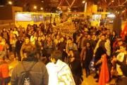 Manifestantes protestam contra alta tarifa do transporte público