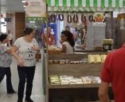 Produtos orgânicos em destaque na Feirinha Colonial do Shopping Della