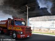 Bombeiros finalizam combate às chamas na Cristalcopos