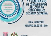 TCE/SC promove evento para discutir o aperfeiçoamento da contabilidade no setor público