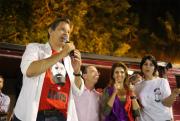 Haddad e Décio Lima reúnem 8 mil pessoas em ato público em Florianópolis