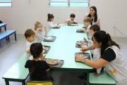 """Projeto """"self service"""" dá autonomia para alunos da educação infantil Satc"""