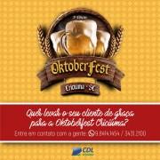Últimos dias para lojistas aderirem à promoção da CDL e Oktoberfest Criciúma
